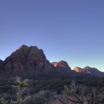 HDR Red Rock Canyon Peaks